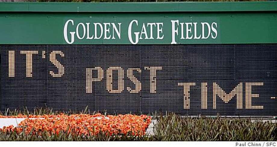 Golden Gate Fields Photo: Paul Chinn, SFC