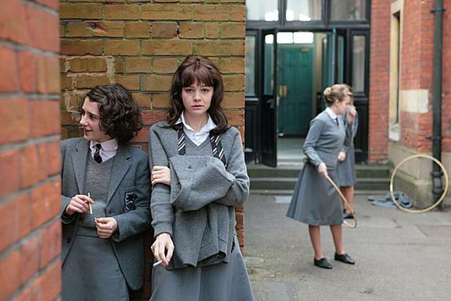 "Left to Right: Ellie Kendrick as Tina and Carey Mulligan as Jenny in ""An Education."" Photo: Kerry Brown, Sony Pictures Classics"