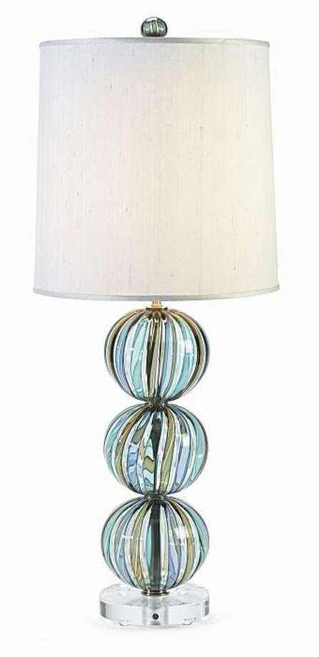 Bocce table lamp by Tracy Glover. Photo: Plantation.com