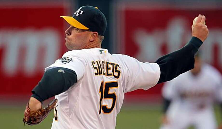 Ben Sheets started the game for Oakland and went 5 innings with two earned runs. Oakland Athletics played the Seatte Mariners for their opening day at the Oakland-Alameda County Coliseum in Oakland, Calif., on Monday, April 4, 2010. Photo: Carlos Avila Gonzalez, The Chronicle