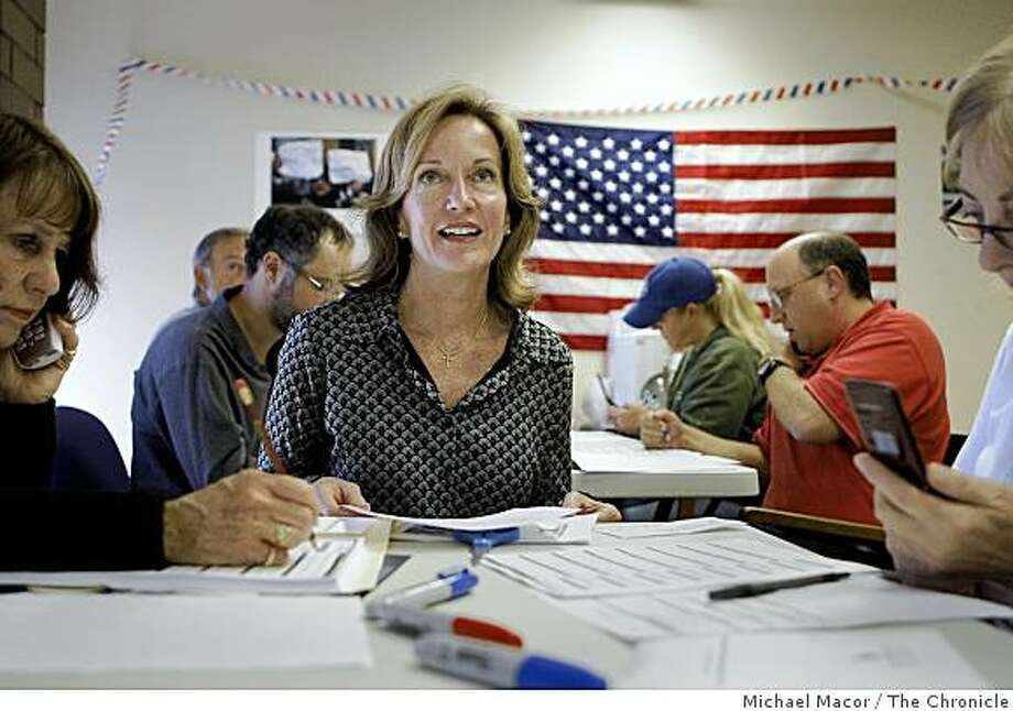 Darcy Linn, is the Treasurer of the Republican Party headquarters in Contra Costa County and is a big Sarah Palin supporter, she is voting the Republican ticket in November. Linn at the headquarters office in  Walnut Creek, Calif.  on Sept. 19, 2008. Photo: Michael Macor, The Chronicle