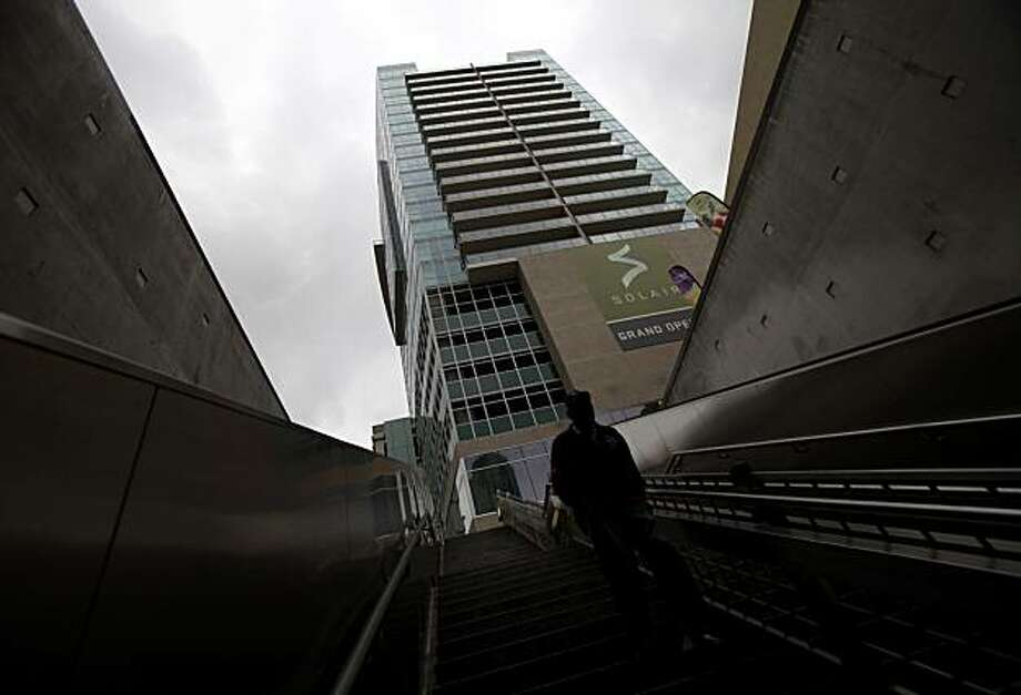 A newly built high-rise condo building is shown in Los Angeles, Tuesday, March 30, 2010. A surprisingly strong rebound in California's real estate market helped lift a key home price index for the eighth month in a row. Photo: Jae C. Hong, AP