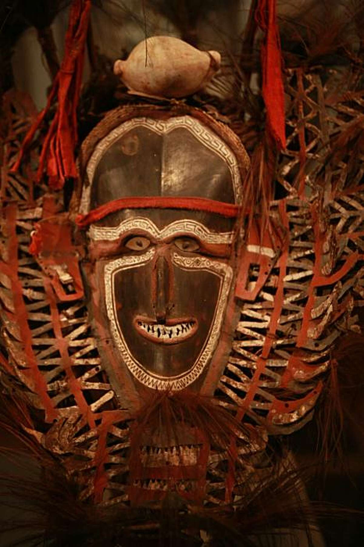 The M.H. de Young Memorial Museum's Jolika Collection includes this ceremonial mask from the Torres Strait, Mabuiag Island dated from the early 19th century.