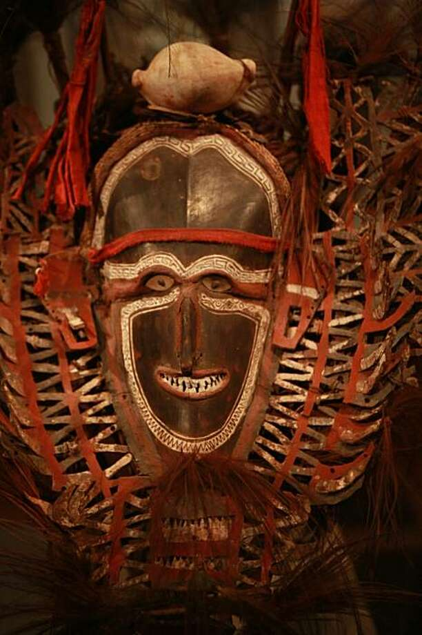The M.H. de Young Memorial Museum's Jolika Collection includes this  ceremonial mask from the Torres Strait, Mabuiag Island dated from the early 19th century. Photo: Lance Iversen, The Chronicle