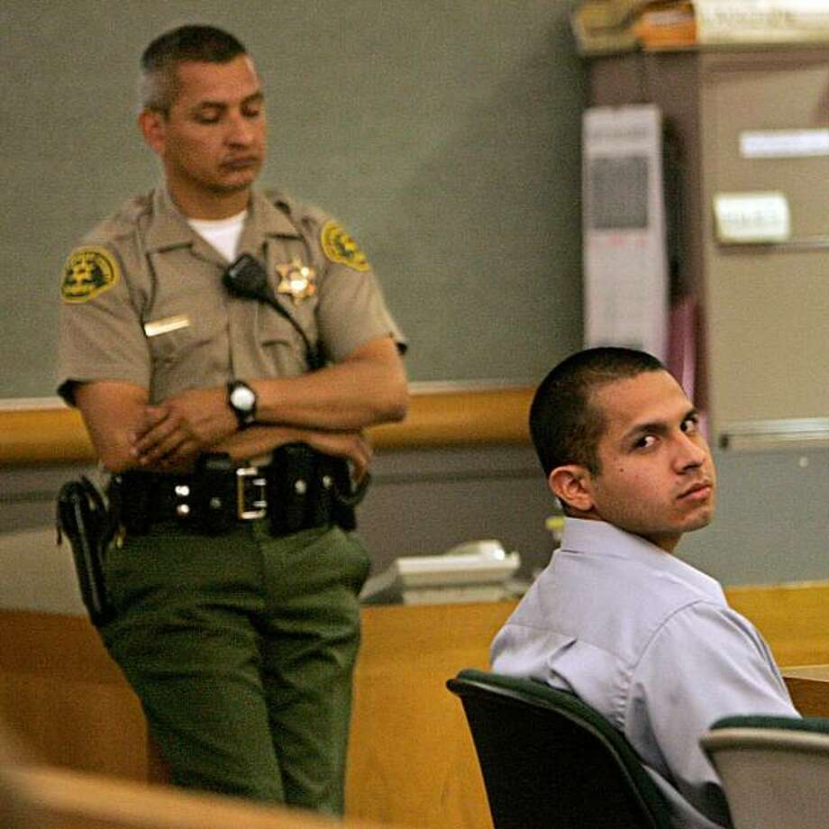 In this March 29, 2010 photo, Cesar Ulloa sits in court during the opening day of his trial at the Van Nuys Courthouse in Van Nuys, Calif.  Ulloa, is accused of abusing patients at a pricey Calabasas retirement home, jumping on a 78-year-old woman's chestand body-slammed her and encouraged wheelchair-confined residents to fight, jurors were told. Photo: Mel Melcon, AP