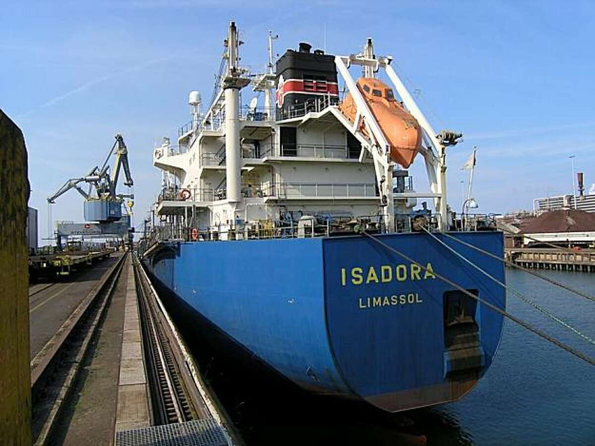 Traveling on the freighter Isadora from the Netherlands to Cleveland, Ohio.