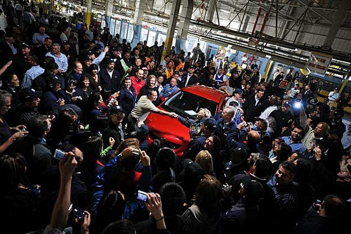 The last Corolla rolled off the assembly line at the New United Motor Manufacturing Inc. plant in Fremont, Calif., Thursday April 1, 2010.