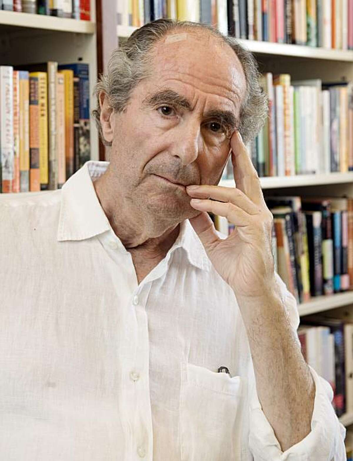 Philip Roth in the offices of his publisher Houghton Mifflin, in New York, Sept. 8, 2008.
