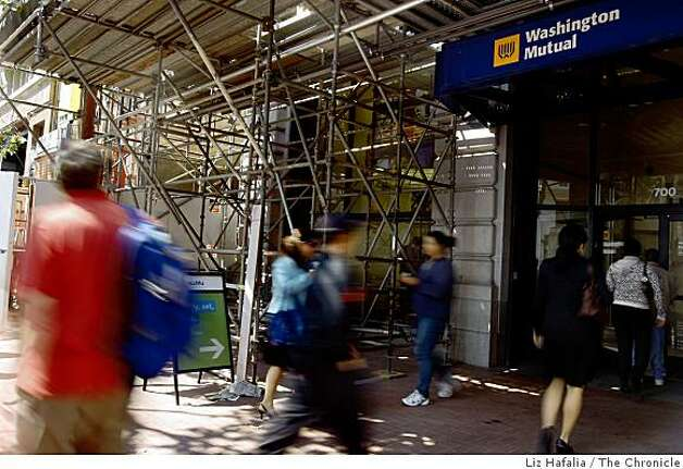 Washington Mutual bank on Market at Third Streets in San Francisco, Calif., on Wednesday, September 9, 2008. Photo: Liz Hafalia, The Chronicle