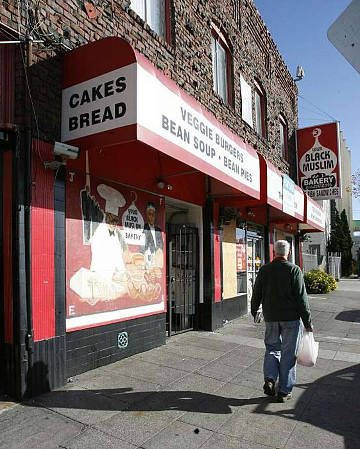 Your Black Muslim Bakery on San Pablo Blvd at the Oakland - Emeryville border is now boarded up, the property apparently for sale. Photo: Michael Maloney, The Chronicle