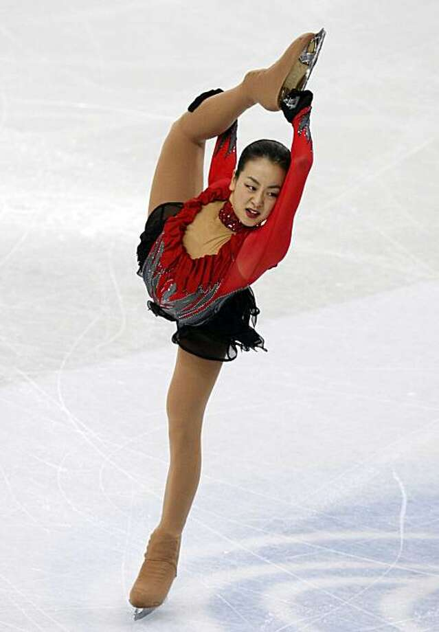Japan's Mao Asada performs in the free skating competition, at the World Figure Skating Championships in Turin, Italy, Saturday, March 27, 2010. Photo: Antonio Calanni, AP