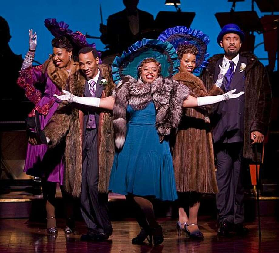 "Aurelia Williams (left), Christopher L. Morgan, Angela Grovey, Rebecca Covington and Ken Robinson in San Jose Repertory Theatre's production of the Fats Waller musical ""Ain't Misbehavin'"" Photo: Tim Fuller"