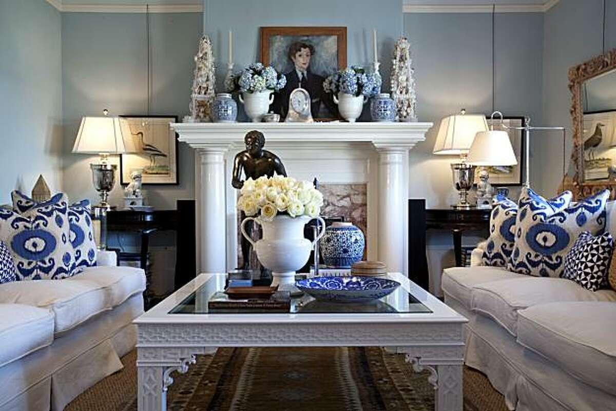 Living room of an Edwardian home owned by two former executives of Williams-Sonoma in San Francisco, California on Mar. 4, 2010.