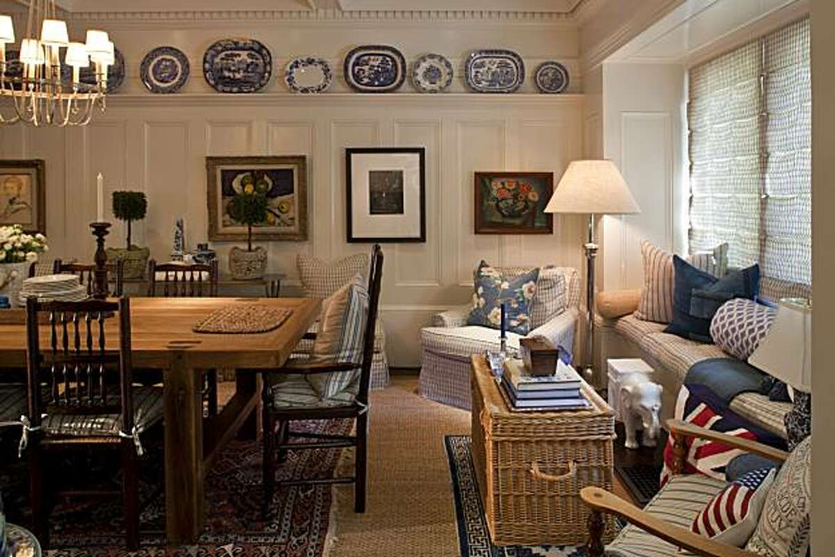 Dining room and sitting area of an Edwardian home owned by two former executives of Williams-Sonoma in San Francisco, California on Mar. 4, 2010.
