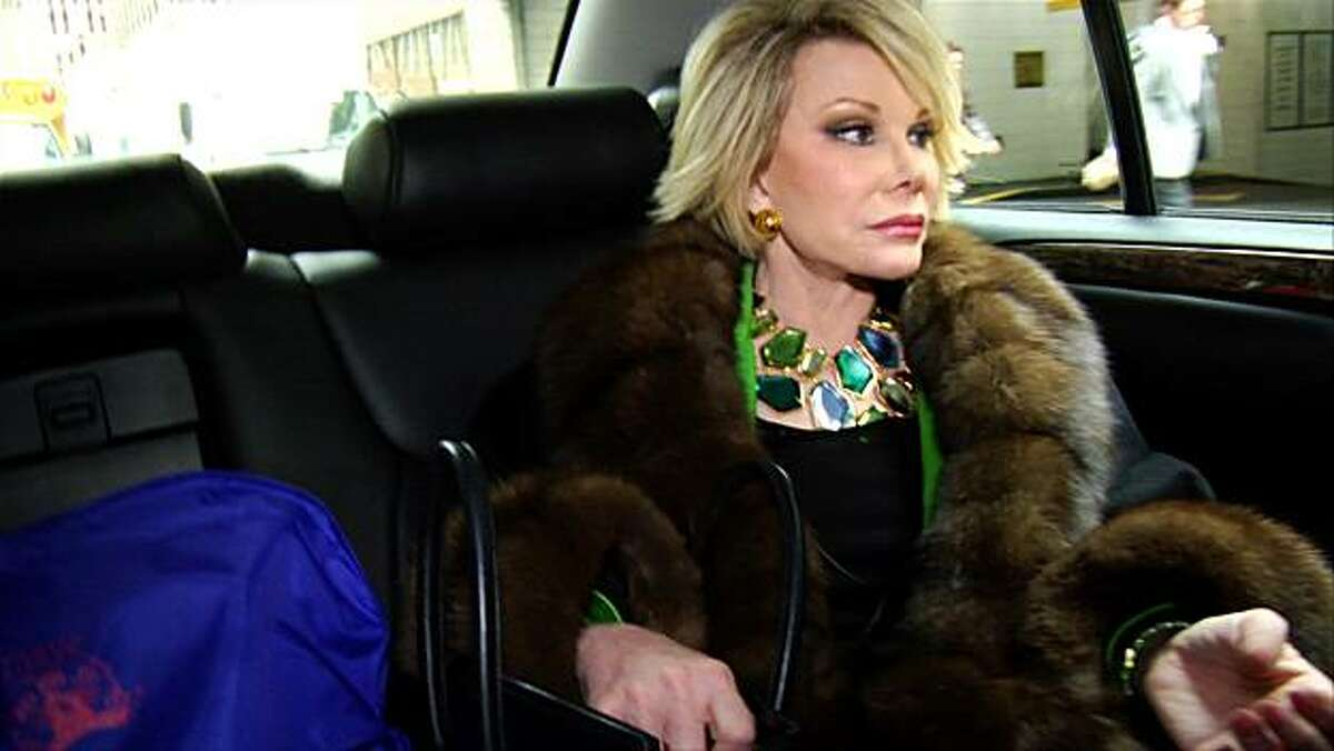 Joan Rivers featured in the documentary JOAN RIVERS--A PIECE OF WORK, codirected by Ricki Stern and Annie Sundberg, the Closing Night film at the 53rd San Francisco International Film Festival, April 22 - May 6, 2010.