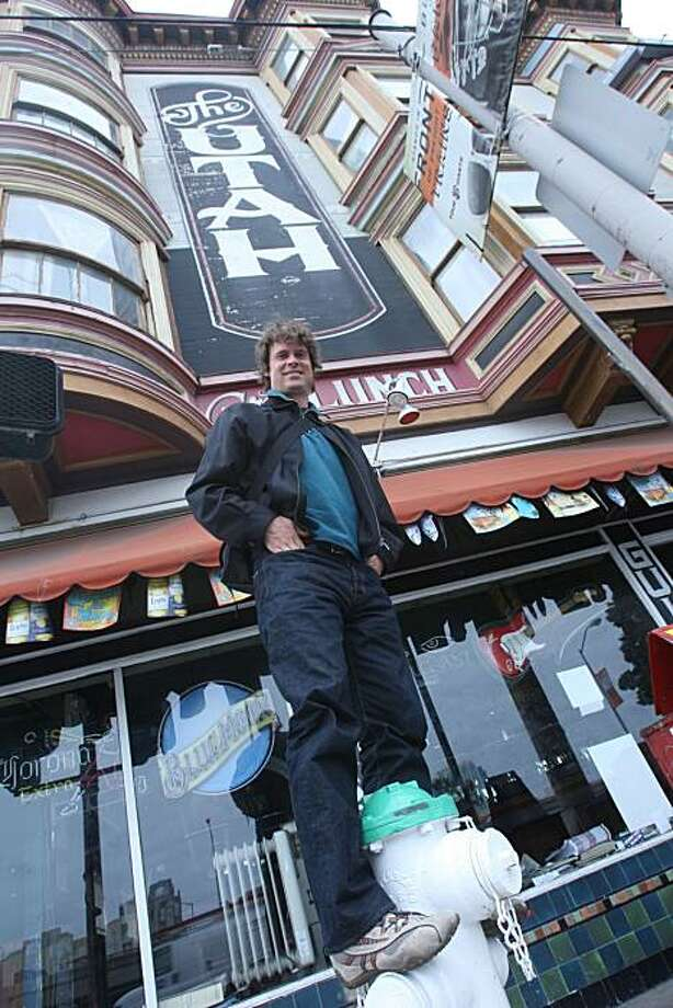 Tim Westergren, founder of Pandora Radio (www.pandora.com), in  front of the Hotel Utah in San Francisco, Calif., on Wednesday, May 28, 2008. The Chronicle Photo: Liz Hafalia, The Chronicle