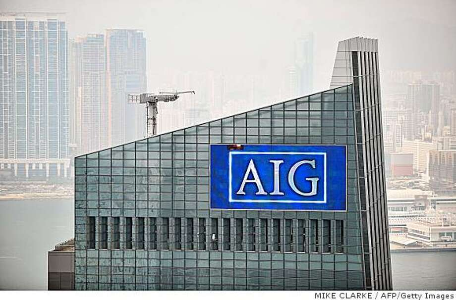 (FILES) The AIG headquarters is seen in Hong Kong on September 16, 2008. The US Federal Reserve was close to finalizing a deal to rescue teetering insurance giant American International Group from collapse by extending an 85-billion-dollar loan in exchange for a nearly 80-percent stake in the company, US media reported.         AFP PHOTO/FILES/Mike CLARKE (Photo credit should read MIKE CLARKE/AFP/Getty Images) Photo: MIKE CLARKE, AFP/Getty Images