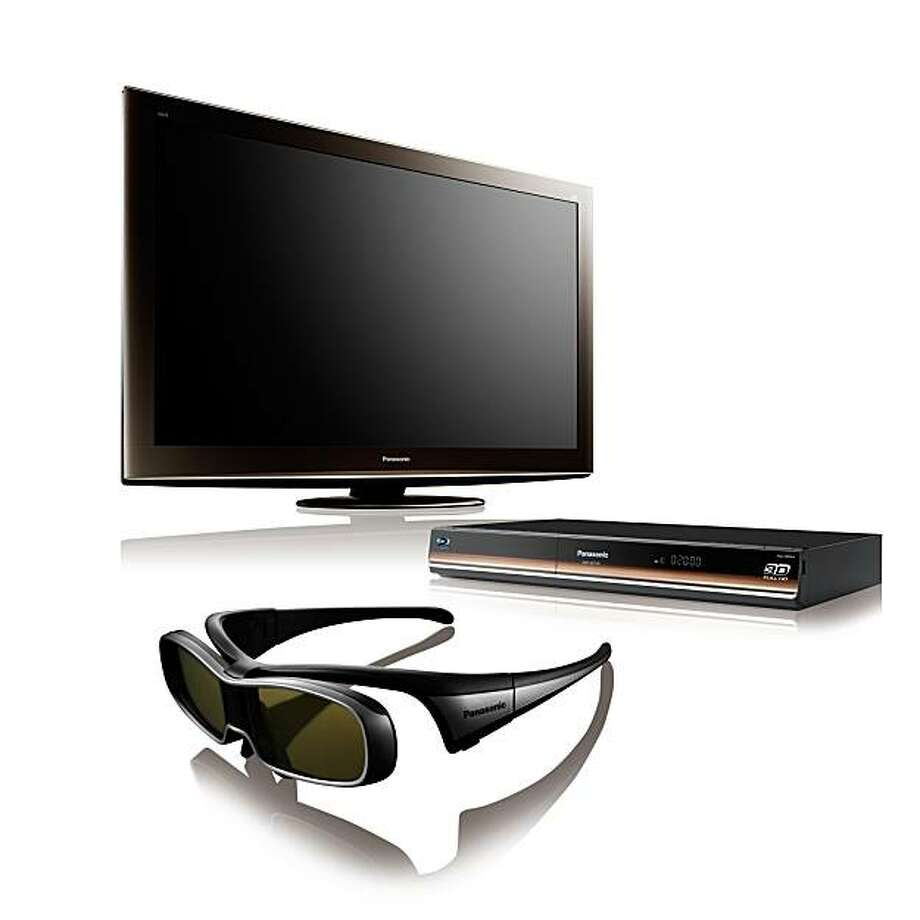 You can expect to see packages that include a 3D-capable HDTV, a 3D Blu-ray player, and two pairs of glasses for an attractive price like this Panasonic 3D HDTV Package. (Courtesy Panasonic/MCT) Photo: Handout, MCT