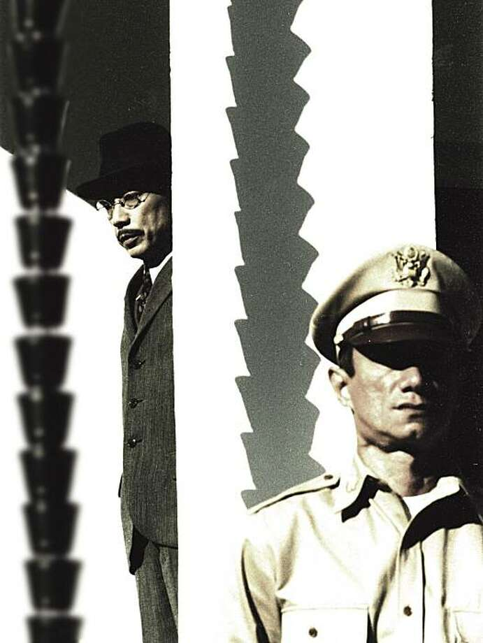 Hirohito played by Issey Ogata, Gen. MacArthur is Robert Dawson in The Sun. Photo: Lorber Films