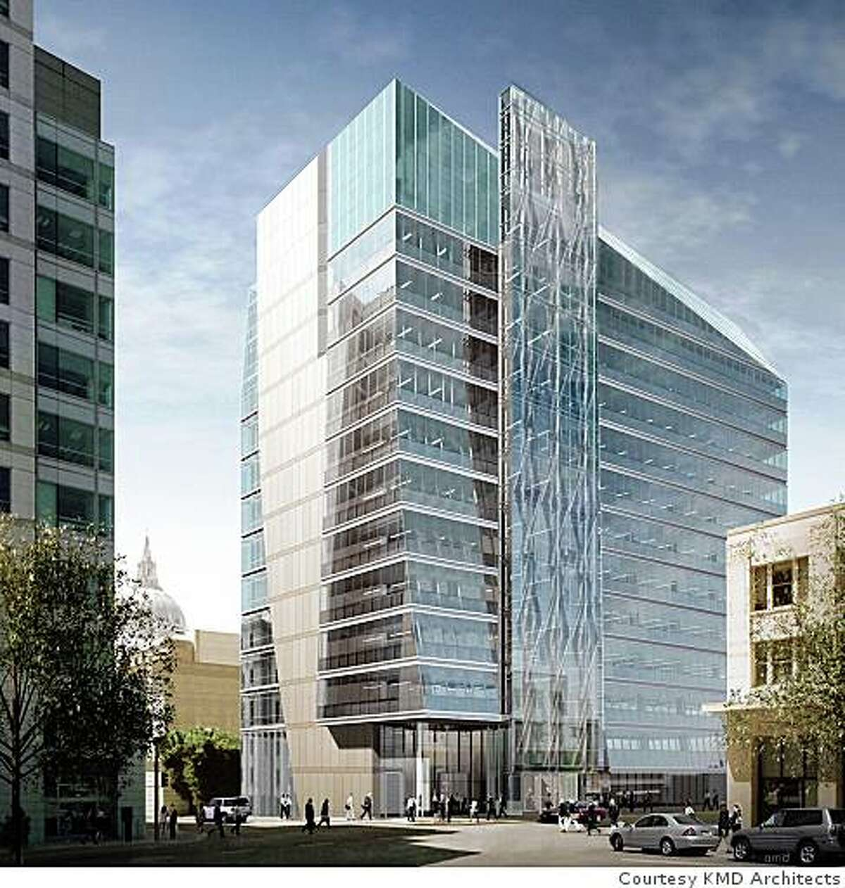Rendering of the new headquarters of the San Francisco Public Utilities Commission Building