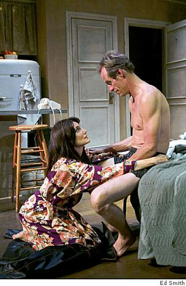 "Terri McMahon (left) as Frankie and Rod Gnapp as Johnny in Marin Theatre Company's production of ""Frankie and Johnny in the Clair de Lune."" Photo: Ed Smith"