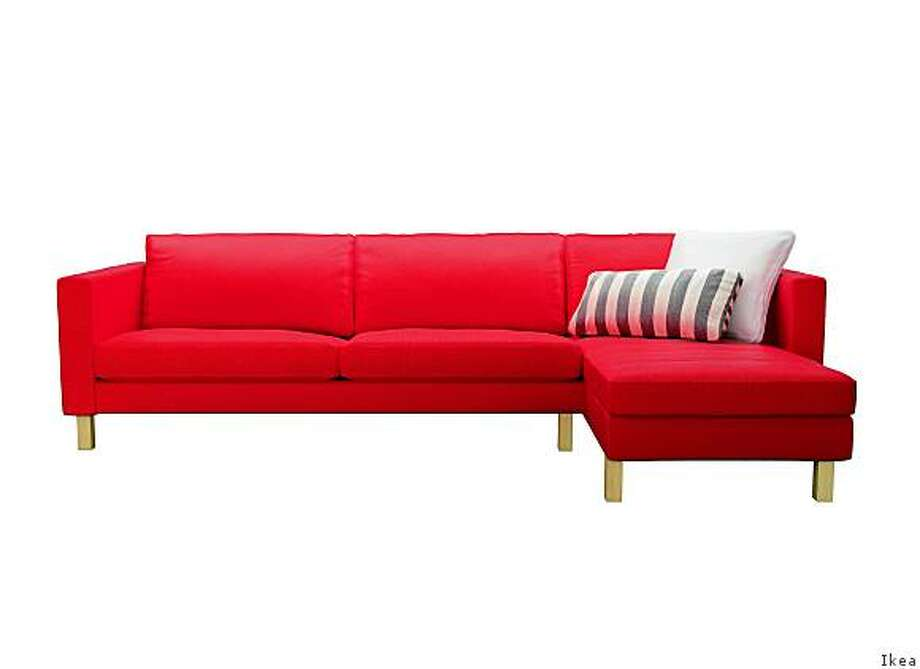 The Karlstad loveseat with chaise, $978 as shown. Photo: Ikea