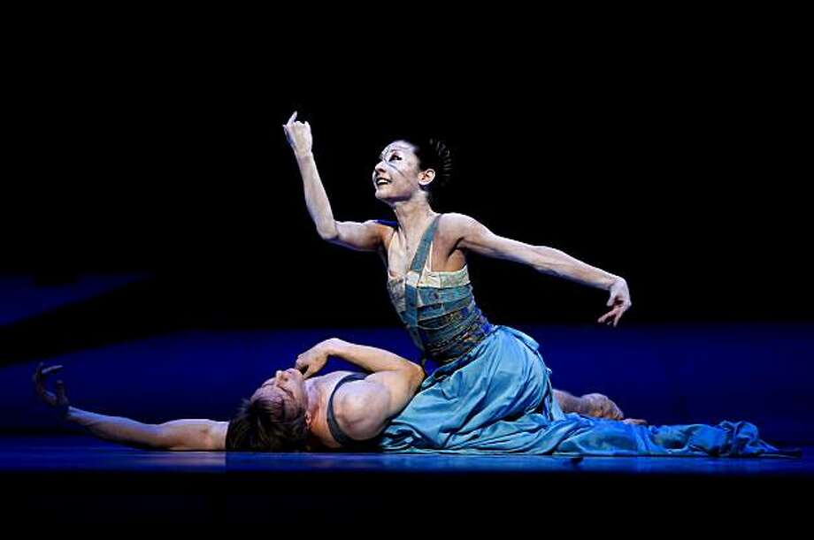"Dancer Yuan Yuan Tan as the Mermaid and Tiit Helimets as the Prince, during dress rehearsals on Friday Mar. 19, 2010, as the San Francisco Ballet prepares to debut the world premiere of, ""The Little Mermaid"" on Saturday night in San Francisco, Calif. Photo: Michael Macor, The Chronicle"
