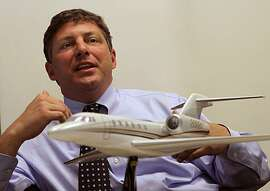 Blair LaCorte, chief executive officer of XOJET, a charter jet company that offers business people fractional ownership of jets, in his office in San Carlos, Calif., on Wednesday, March 24, 2010.