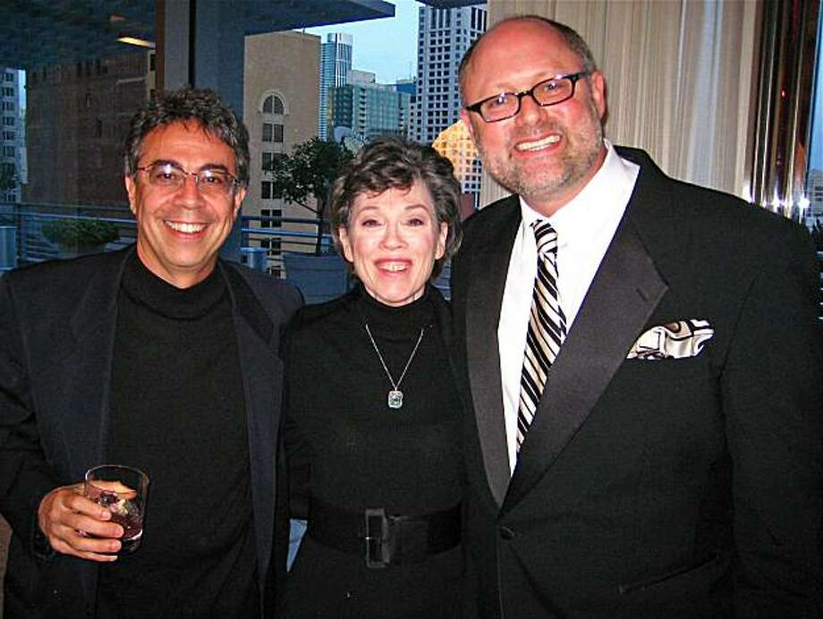 The Producers (from left) Berkeley Rep Artistic Director Tony Taccone, producer Carole Shorenstein Hays and Cal Shakes Artistic Director Jonathan Moscone. March 2010. Photo: Catherine Bigelow, Special To The Chronicle
