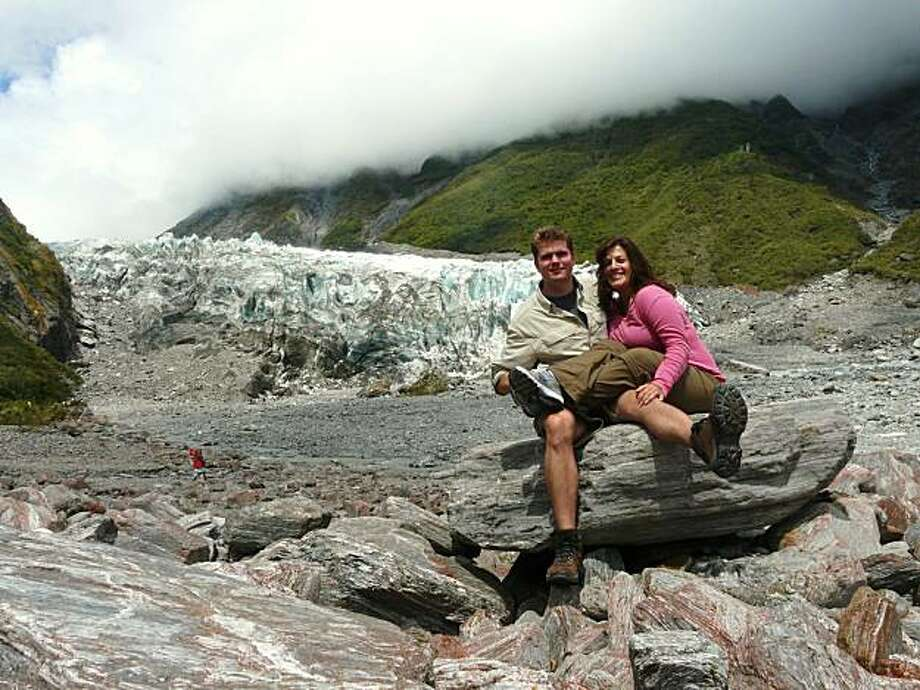 Bryan Medlin and Veronica Navarrette in New Zealand. Photo: Courtesy, Bryan Medlin,Veronica Navarrette