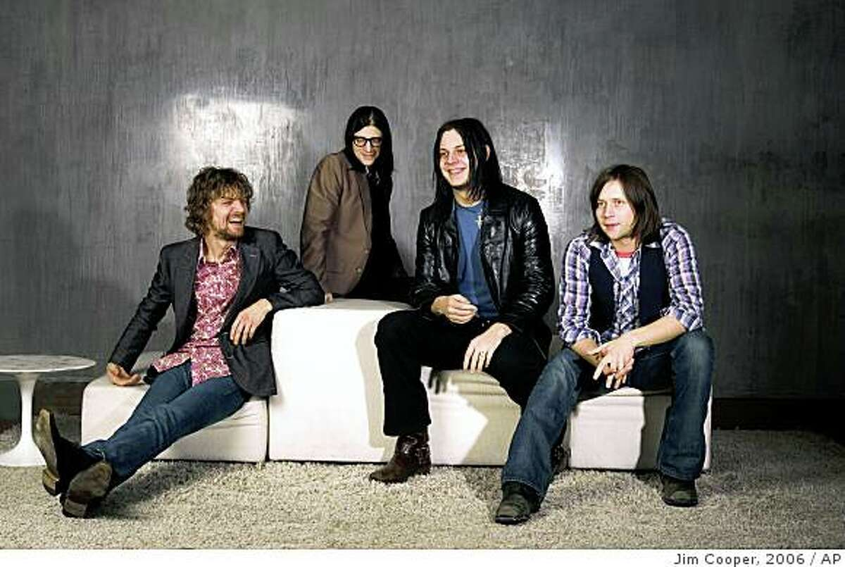 The band the Raconteurs (from left) Brendan Benson, Jack Lawrence, Jack White and Patrick Keeler.