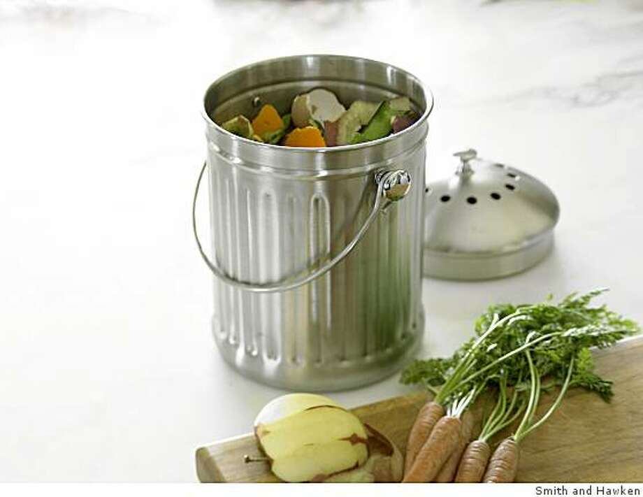 Smith and Hawken Stainless Steel Kitchen Composter Photo: Smith And Hawken