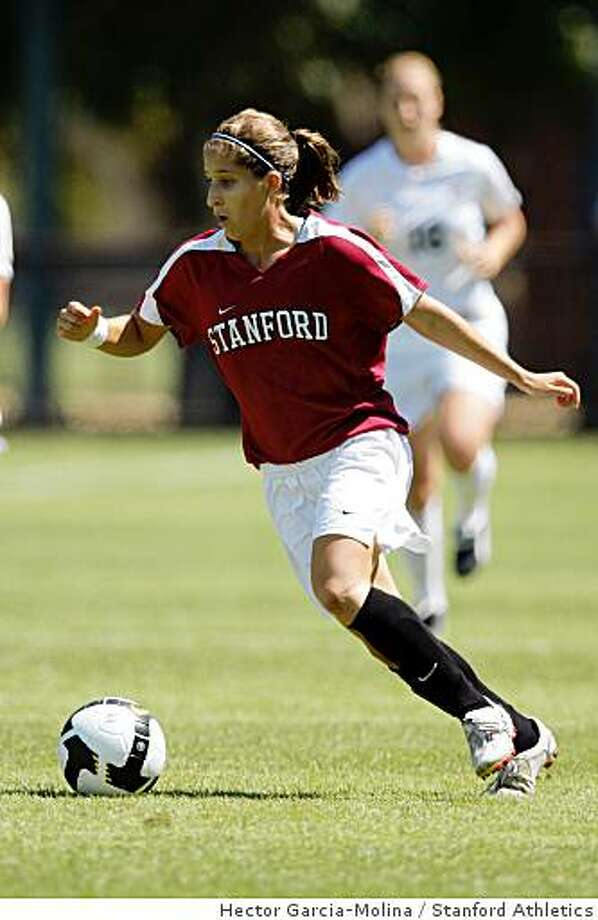 Teresa Noyola, Stanford soccer, 2008 Photo: Hector Garcia-Molina, Stanford Athletics