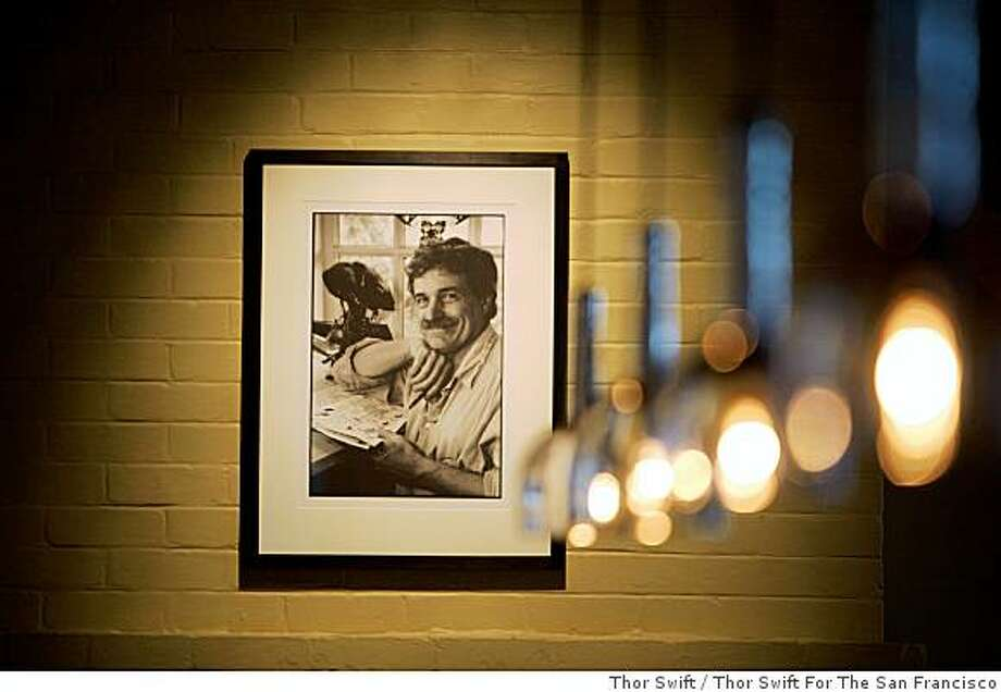 Farleys bar is photographed at Cavallo Point, a new 142-room lodge at Fort Baker at the north end of the Golden Gate Bridge, Saturday, May 3, 2008. The photograph is of Phil Frank, San Francisco Chronicle artist, his drawings are located throughout the bar.Thor Swift For The San Francisco Chronicle Photo: Thor Swift, Thor Swift For The San Francisco