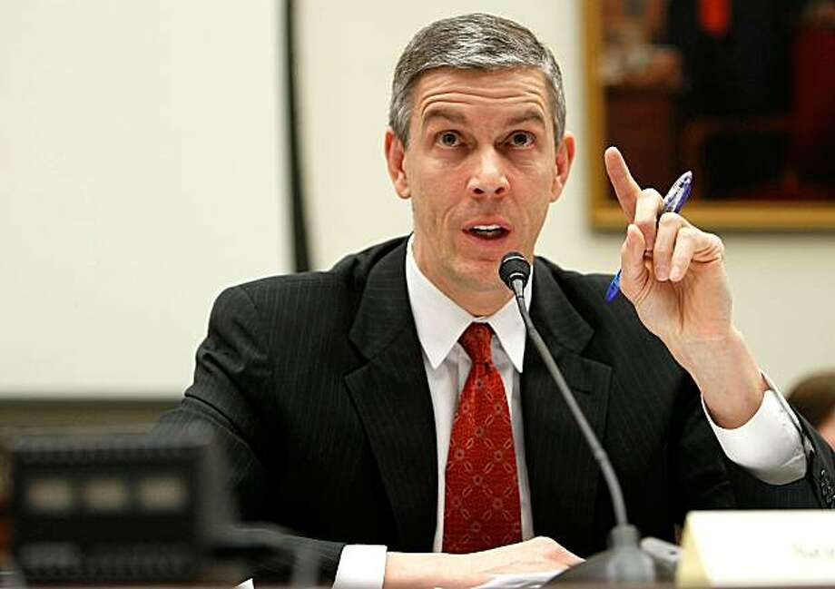 WASHINGTON - MARCH 17:  U.S. Education Secretary Arne Duncan testifies during a hearing before the House Education and Labor Committee March 17, 2010 on Capitol Hill in Washington, DC. The committee was examining the Obama Administration's Elementary andSecondary Education Act. Photo: Alex Wong, Getty Images