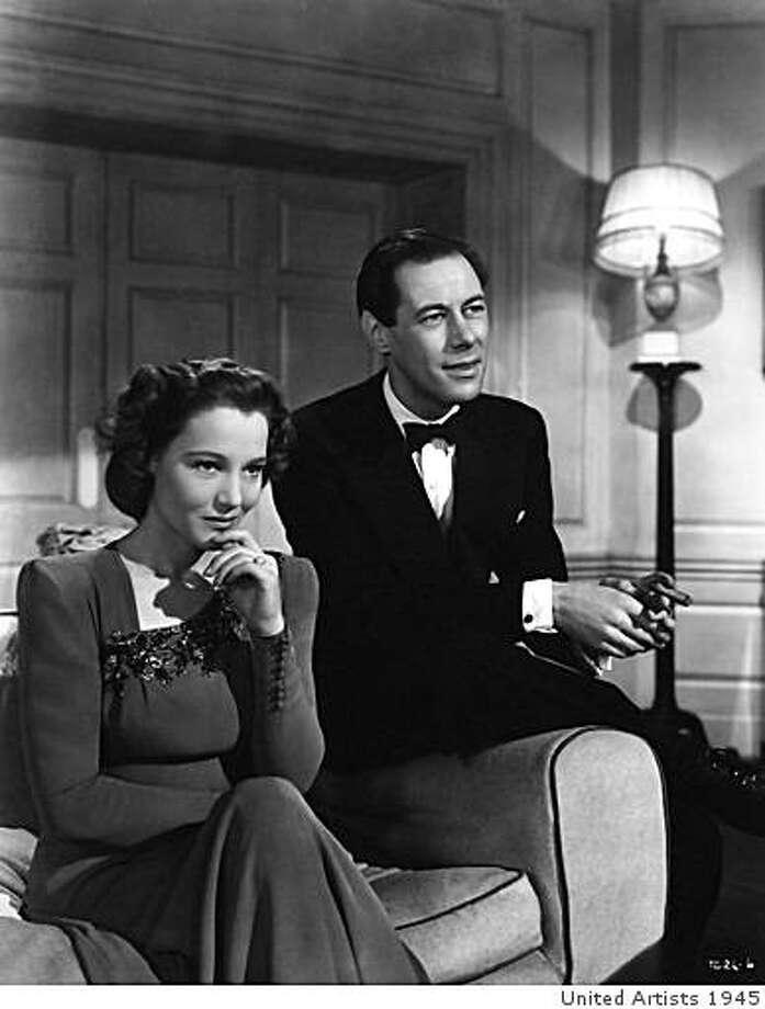 "Constance Cummings and Rex Harrison in ""Blithe Spirit."" Photo: United Artists 1945"