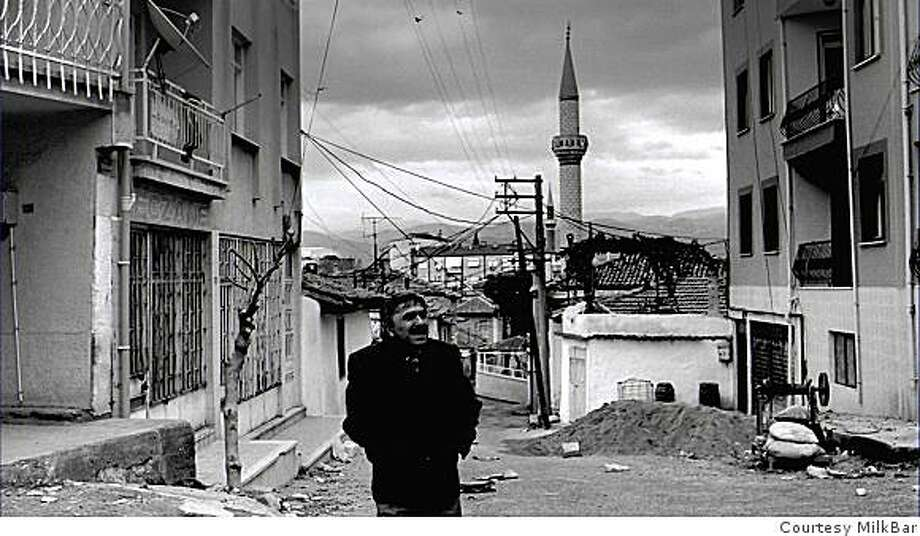 """Still from  """"The Slope''. Mehmet Can Merto�lu. 2008."""