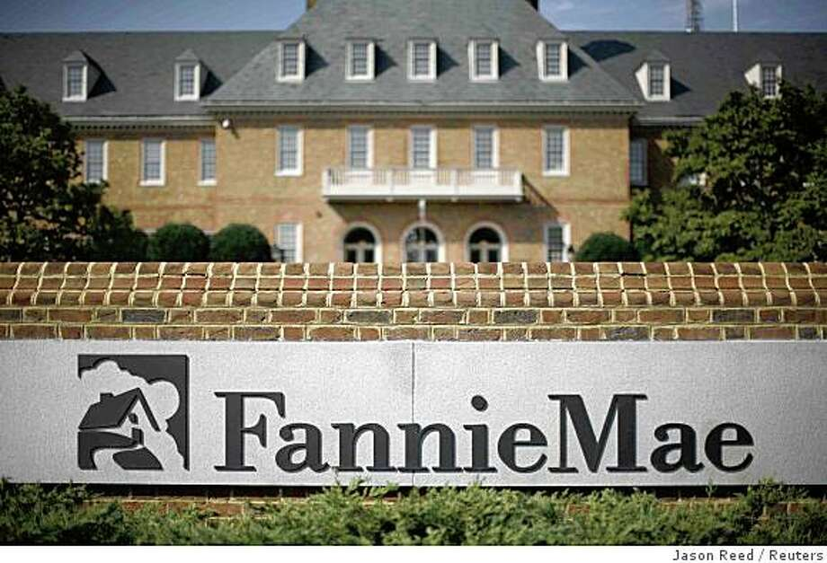 The headquarters of mortgage lender Fannie Mae is shown in Washington September 8, 2008. Fannie Mae's and Freddie Mac's stocks took a dive while their debt soared Monday, as investors bet the U.S. government's takeover of the mortgage finance firms would wipe out shareholders but fully guarantee their bonds.    REUTERS/Jason Reed   (UNITED STATES) Photo: Jason Reed, Reuters