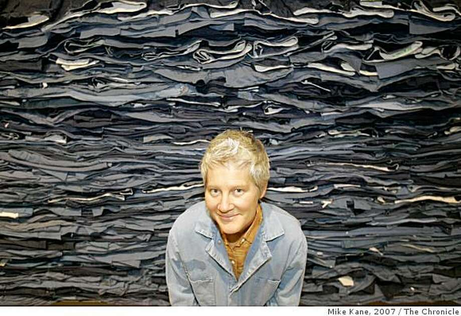 "Artist Ann Hamilton, shown here in 2007 with her installation piece ""Indigo Blue"", has received the Heinz Award in the Arts and Humanities. Photo: Mike Kane, 2007, The Chronicle"
