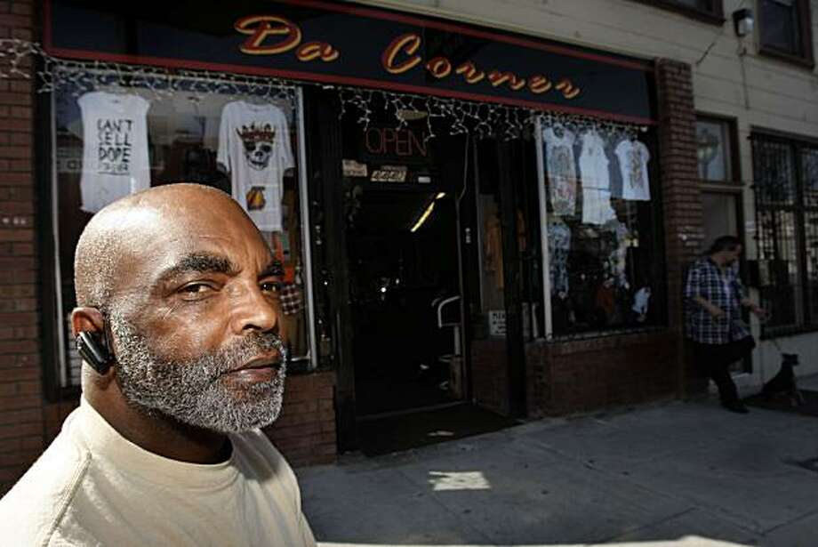"Owner Tony Vaughn of ""Da Corner"", a men' clothing and accessory store on Third Street comments about the street being named after former Mayor Willie Brown in San Francisco, Calif., on Friday, March 19, 2010. Photo: Liz Hafalia, The Chronicle"