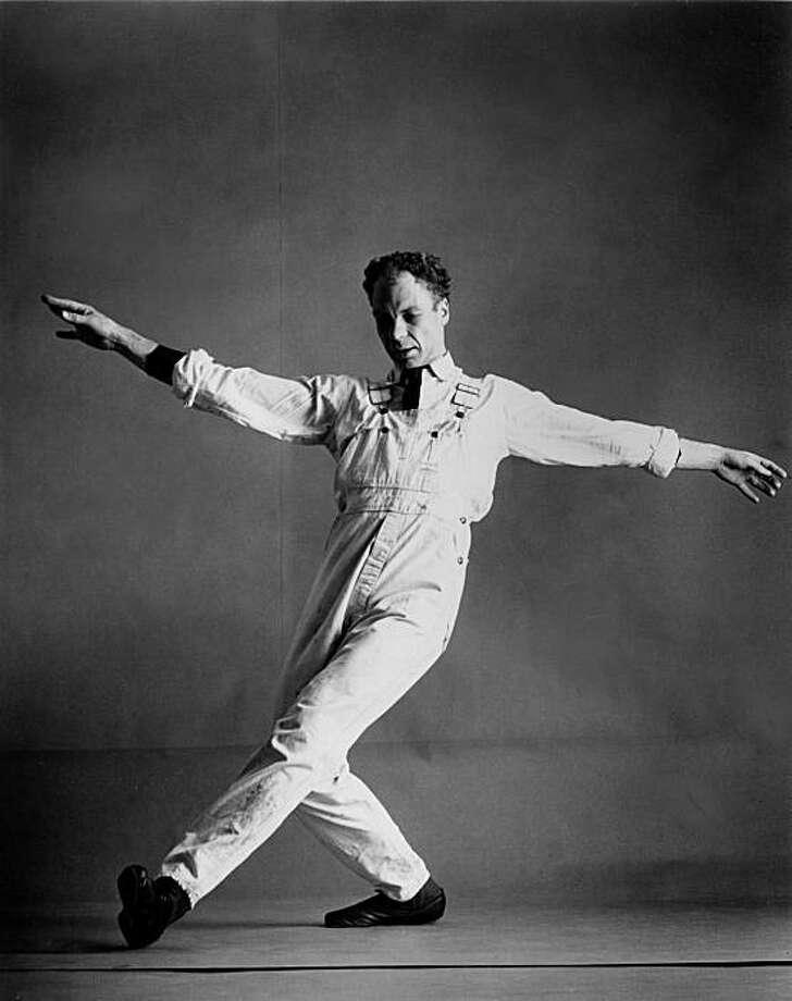 "Merce Cunningham dancing ""Antic Meet."" Photo: Marvin Silver"