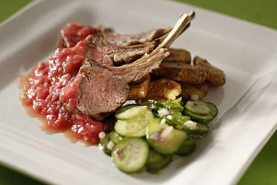 Spring Rack of Lamb With Rhubarb Sauce: Pair this very springy meal with Pinot Noir. Click here for the recipe.  Photo: Craig Lee, Special To The Chronicle