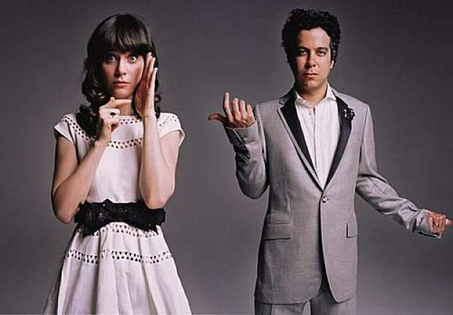 Zooey Deschanel and M. Ward: She & Him Photo: Merge
