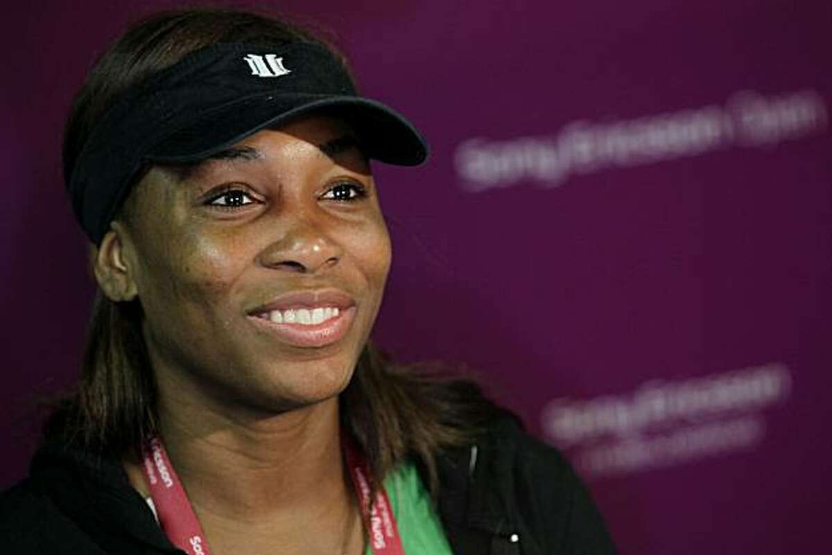 KEY BISCAYNE, FL - MARCH 23: Venus Williams speaks to the media during the Sony Ericsson WTA All Access Hour at Crandon Park Tennis Center on March 23, 2010 in Key Biscayne, Florida.