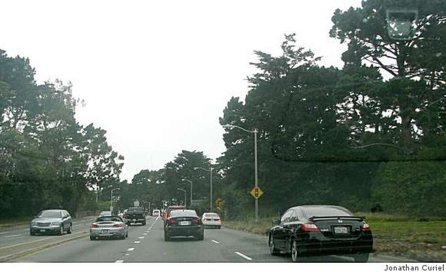 19th avenue as it extends into Golden Gate Park Photo: Jonathan Curiel