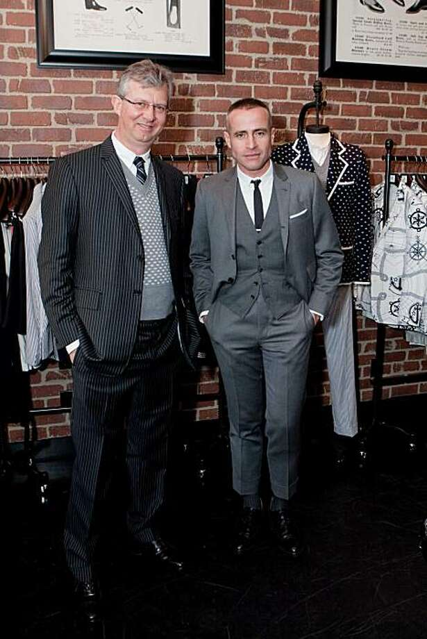 Brooks Brothers Hosts A Private VIP Reception to Claudio Del Vecchio, Thom Browne and celebrate the ppening of a New BLACK FLEECE Store on Fillmore Street. Claudio Del Vecchio, Thom Browne Photo: Heather Wiley, For Drew Altizer Photography
