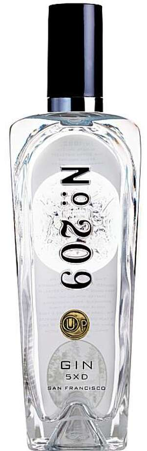 A bottle of Distillery 209's special kosher for Passover version of their gin. Photo: Courtesy Distillery 209
