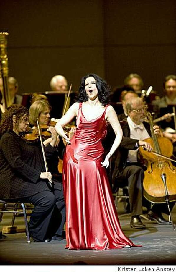 Soprano Angela Gheorghiu in recital in Berkeley's Zellerbach Hall Photo: Kristen Loken Anstey
