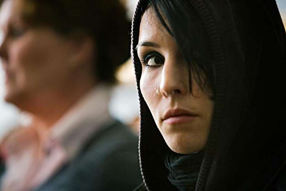 Lisbeth Salander (Noomi Rapace) in THE GIRL WITH THE DRAGON TATTOO. Photo: Knut Koivisto, Music Box Films