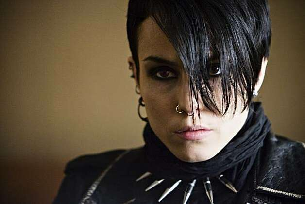 "Noomi Rapace as Lisbeth Salander, a computer hacker involved in a 40-year-old murder investigation,  in ""The Girl With the Dragon Tattoo"" Photo: Music Box Films Knut Koivisto"